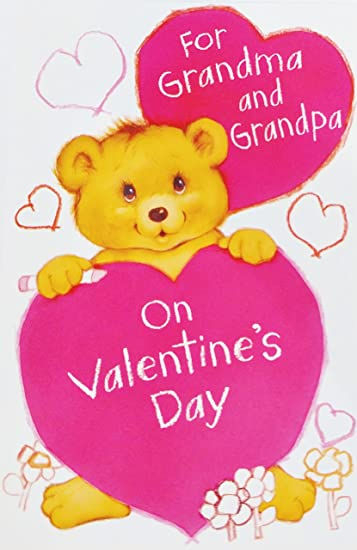Amazon for grandma and grandpa on valentines day greeting for grandma and grandpa on valentines day greeting card quotvalentine filled with love m4hsunfo