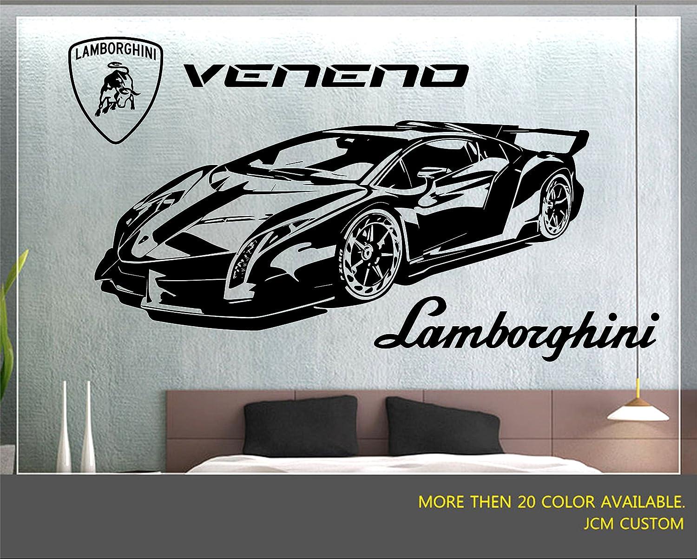 Jcm custom veneno lr 750 4 racing sport car removable wall vinyl decal stickers 52 x 22 amazon com