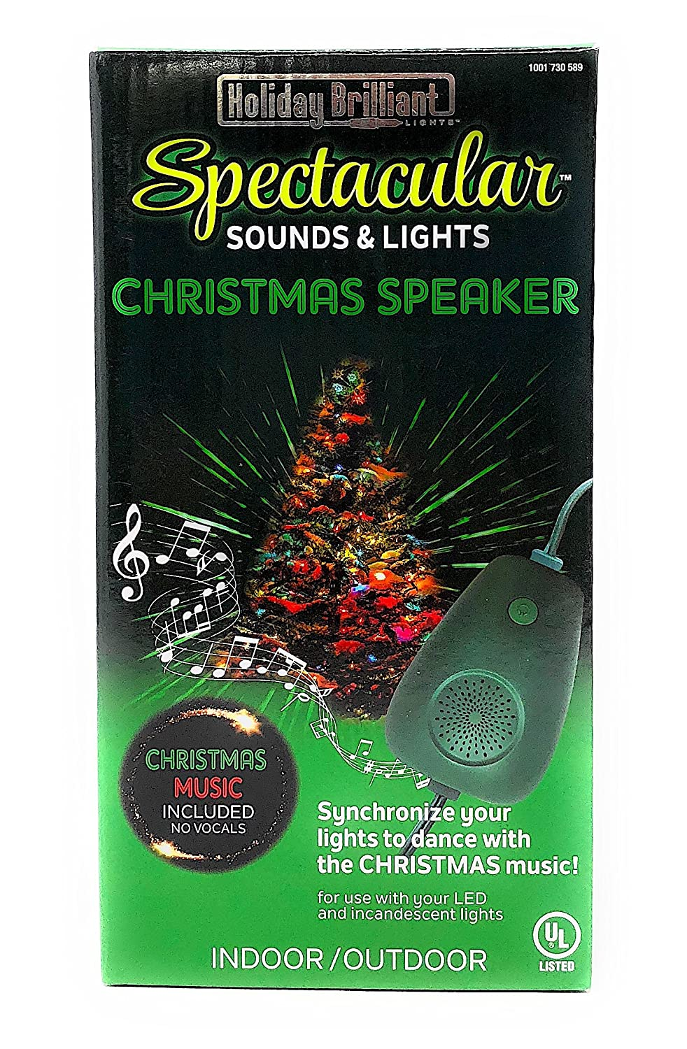 Amazon.com: Holiday Brilliant Lights Sounds and Lights of Christmas  Speaker: Home & Kitchen
