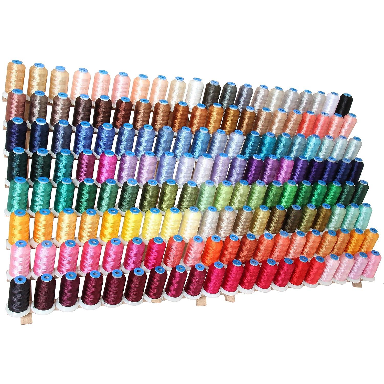Threadart 160 Spool Polyester Embroidery Machine Thread Sets A,B,C&D | 1000M Spools 40wt | For Brother Babylock Janome Singer Pfaff Husqvarna Bernina Machines - 160 1000M Colors