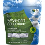 Seventh Generation Auto Dish Pacs, Free and Clear, 45 Count
