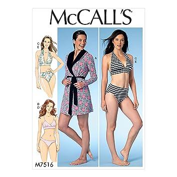 McCall\'s Patterns McCall \'s 7516 ZZ, Schnittmuster Gewand, Gürtel ...
