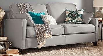 Surprising Serta Nina Sofa Chenille Fabric Gray Ibusinesslaw Wood Chair Design Ideas Ibusinesslaworg