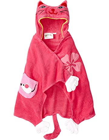 c40bfb3d128 Kidorable Pink Lucky Cat All-Cotton Hooded Towel for Girls w Fun Cat Ears