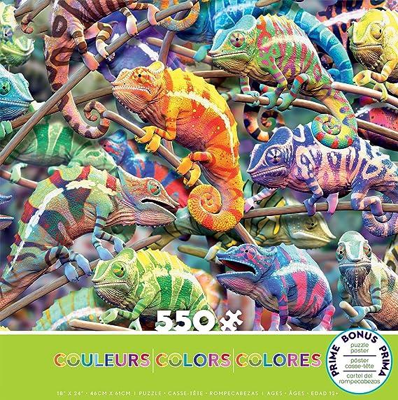 Colors - Millions of Chameleons Puzzle - 550 Pieces
