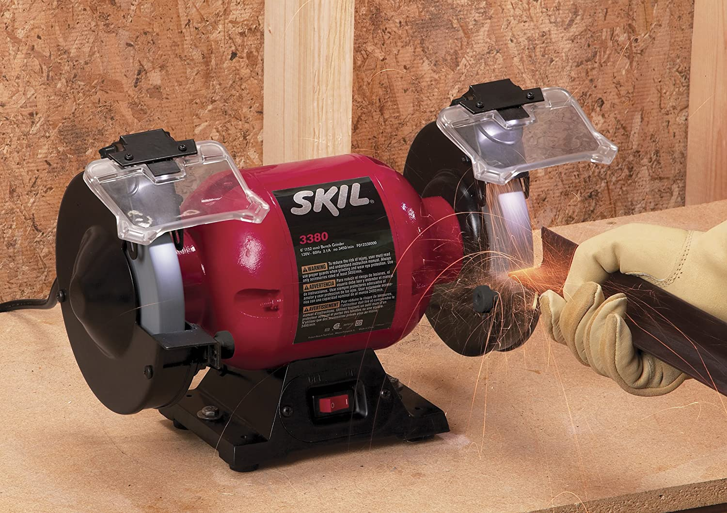 Miraculous Skil 3380 01 6 Inch Bench Grinder Ncnpc Chair Design For Home Ncnpcorg