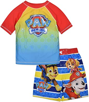 4e31a00d00 Image Unavailable. Image not available for. Color: Nickelodeon Paw Patrol  Toddler Boys' Swim Trunk & Rash Guard Set