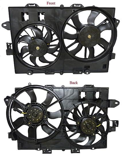 Chevy Equinox Pontiac Torrent 3 4L 06-08 1St Design Dual Radiator Ac  Cooling Fan