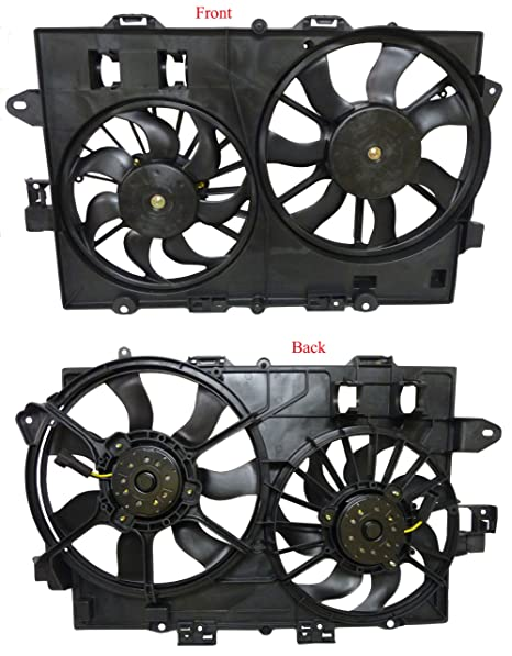 Chevy Equinox Pontiac Torrent 3.4L 06-08 1St Design Dual Radiator Ac Cooling Fan