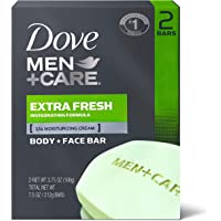 Dove Men+Care Body and Face Bar to Clean and Hydrate Skin Extra Fresh Body and Facial Cleanser More Moisturizing Than…