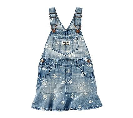 5f848c068d8f Amazon.com  OshKosh B Gosh Baby Girls  Floral Printed Denim Jumper 9 ...