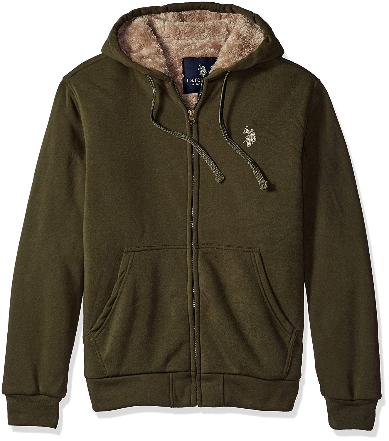 U.S. Polo Assn. OUTERWEAR メンズ B01LXH97DJ Large|フォレスト ナイト(Forest Night) フォレスト ナイト(Forest Night) Large