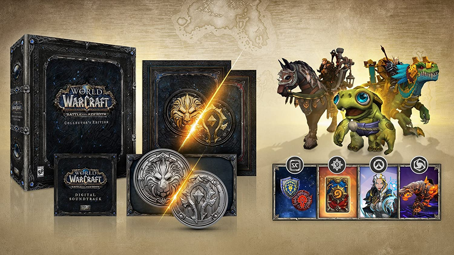 Amazon com: World of Warcraft Battle for Azeroth Collector's