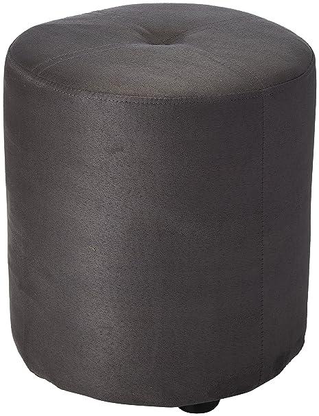 Amazoncom Kings Brand Furniture Round Ottoman Stool Gray