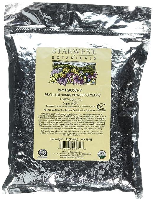 Psyllium Husk Powder Organic Starwest Botanicals 1 lb