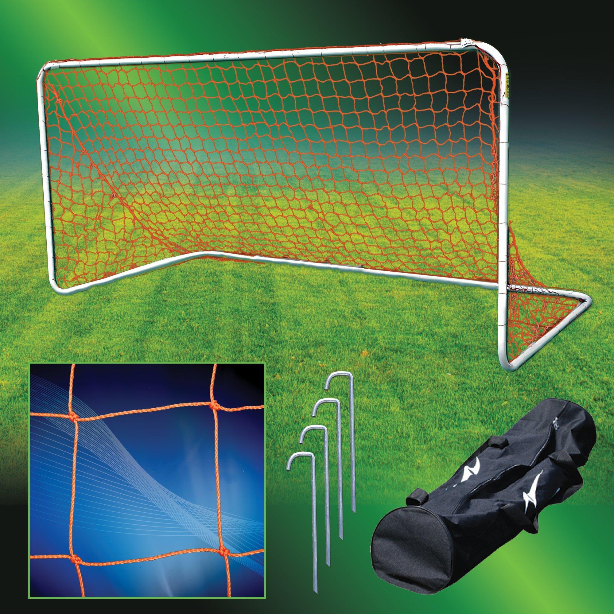 Agora Aluminum Portable Soccer Goal - 5'x10'