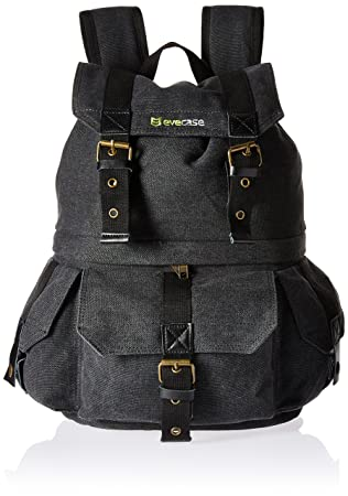 af40640ec3 Evecase DSLR Digital Camera Lens Kit and Canvas School Backpack with Rain  cover - Black for Nikon SLR Cameras (Water Resistant)  Amazon.ca  Camera    Photo
