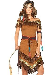Indianer Indianerin Kostum Fur Damen Large Amazon De Spielzeug