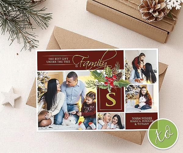 Custom Christmas Cards.Photo Postcard Christmas Photo Cards Personalized Christmas