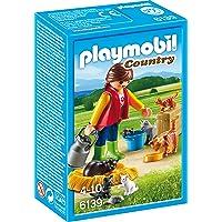 Playmobil Mujer con Familia de Gatos, Color, única (6139)