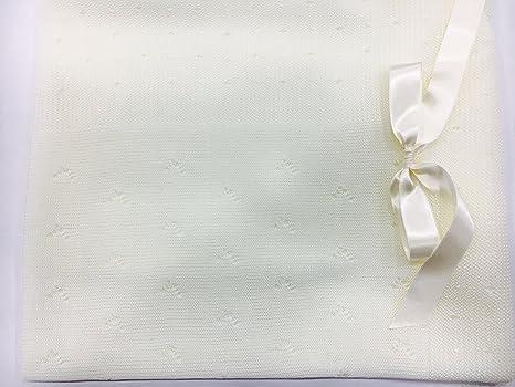 Toquilla perle color crudo105x105cm: Amazon.es: Bebé