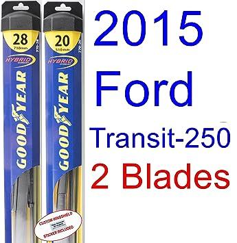2015 Ford transit-250 Base hoja de limpiaparabrisas de repuesto Set/Kit (Goodyear limpiaparabrisas blades-hybrid): Amazon.es: Coche y moto