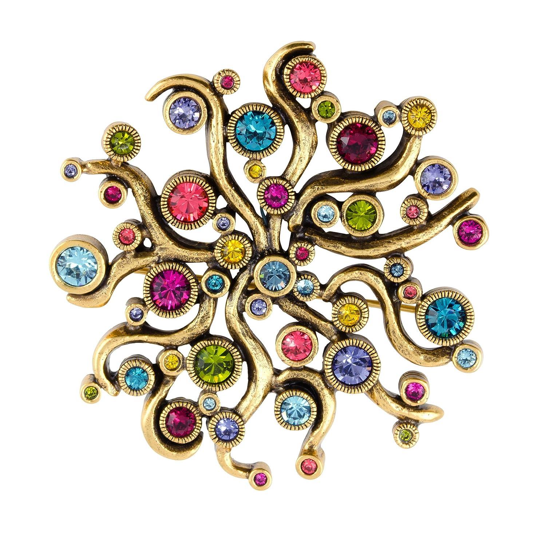 Patricia Locke Medusa Pin in Gold, Celebration Color Story