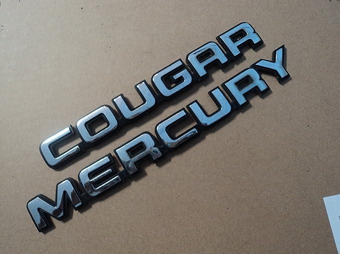 Amazon Mercury Cougar Rear Trunk Chrome Emblem Badge Symbol