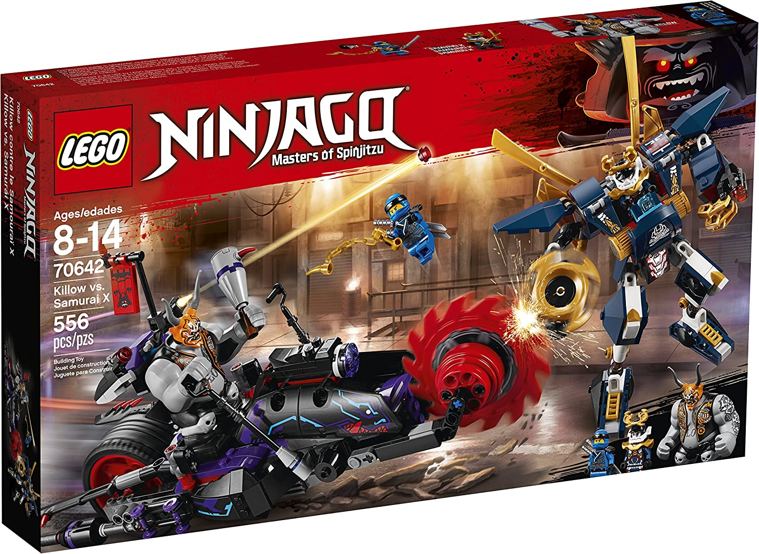 LEGO NINJAGO Killow vs. Samurai X 70642 Building Kit (556 Piece)