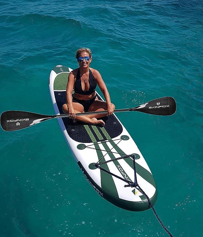 Skin Fox Turtle Double Layer Sup Base Set incluye Duo de Sup/Remo Completo Carbon Remo Kayak tarjeta 335 x 78 x 15 (175kg de resistencia): Amazon.es: ...