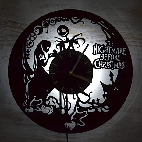 Details about  /LED Clock Jack And Sally LED Light Vinyl Record Wall Clock LED Wall Clock 1980