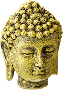 Penn-Plax Mini Buddha Head Aquarium Decor Ornament