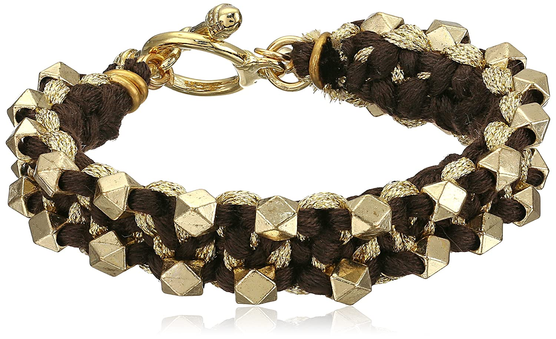Ettika Dual Side Beads Black, Gold Color Combination