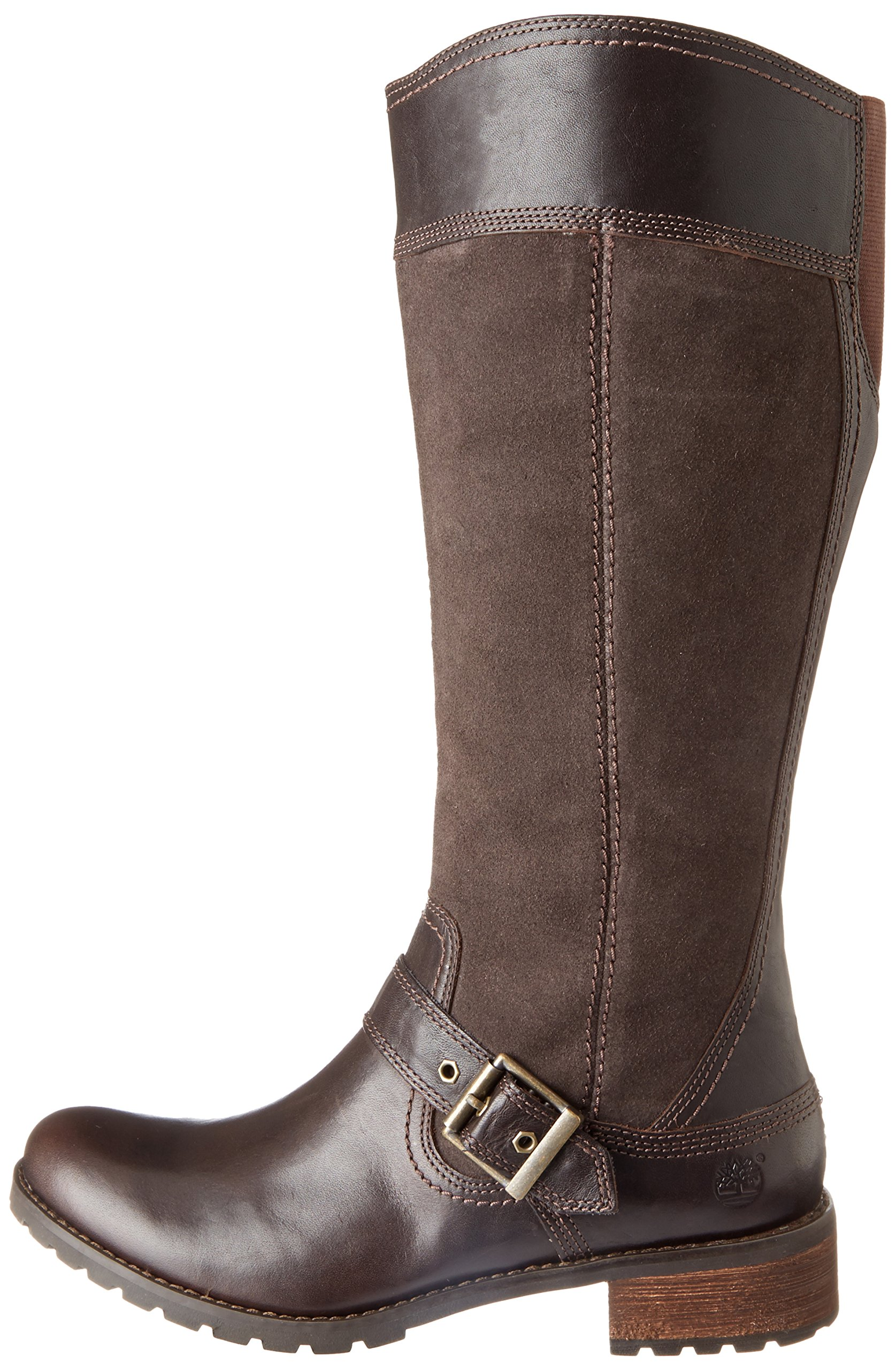 Timberland Women's EK Bethel Tall Harness Boot,Brown,6 W US by Timberland (Image #5)