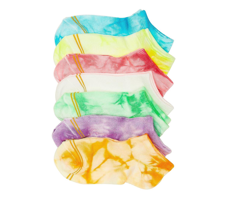 GOLD TOE Girls 6-pack Assorted Tie-Dye Liner Socks