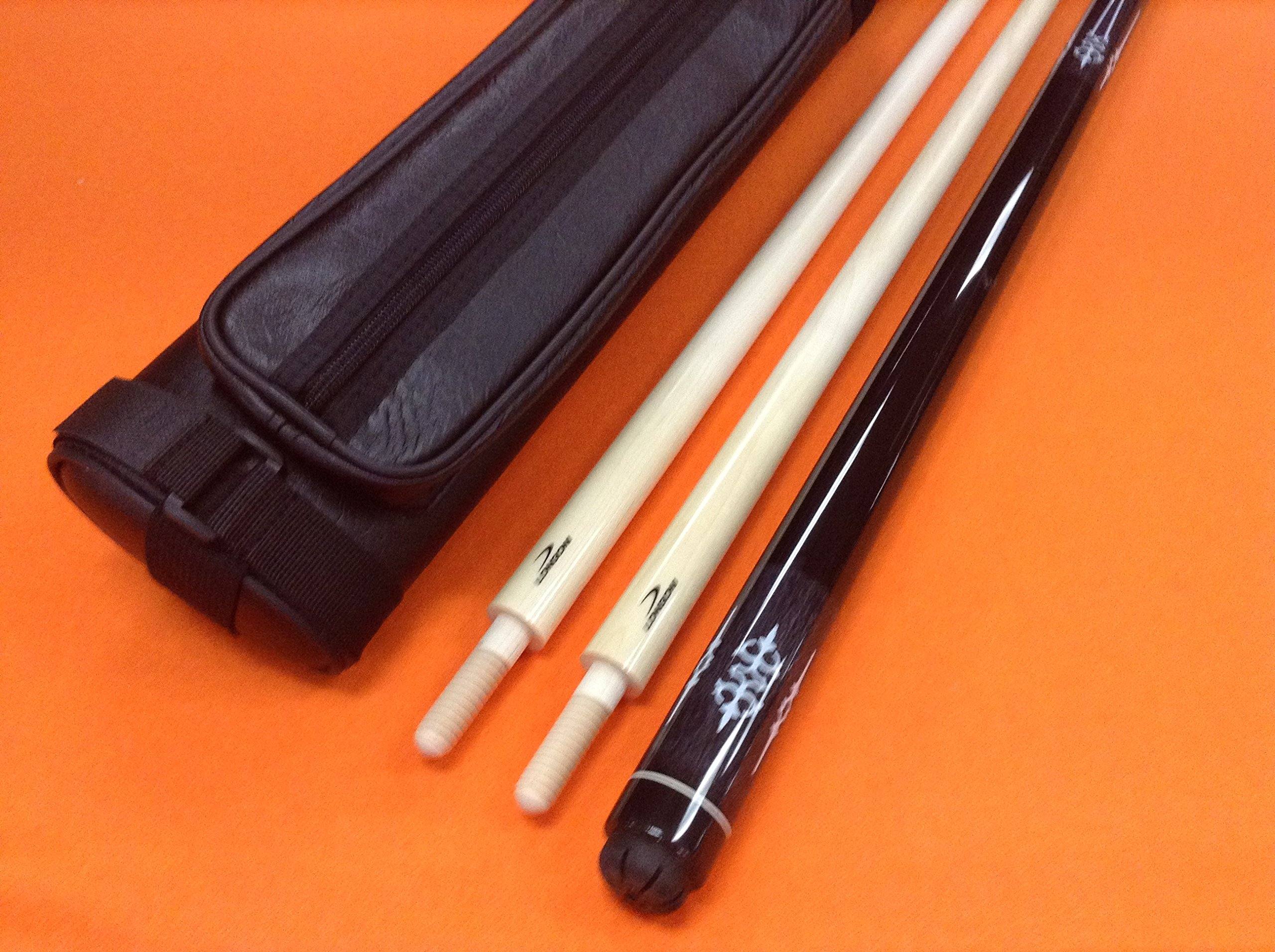 LONGONI CAROM CUE GRAY WITH 2 SHAFTS & CASE