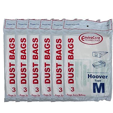 18 bolsas de aspiradora tipo M con dimensiones de Hoover, se ...