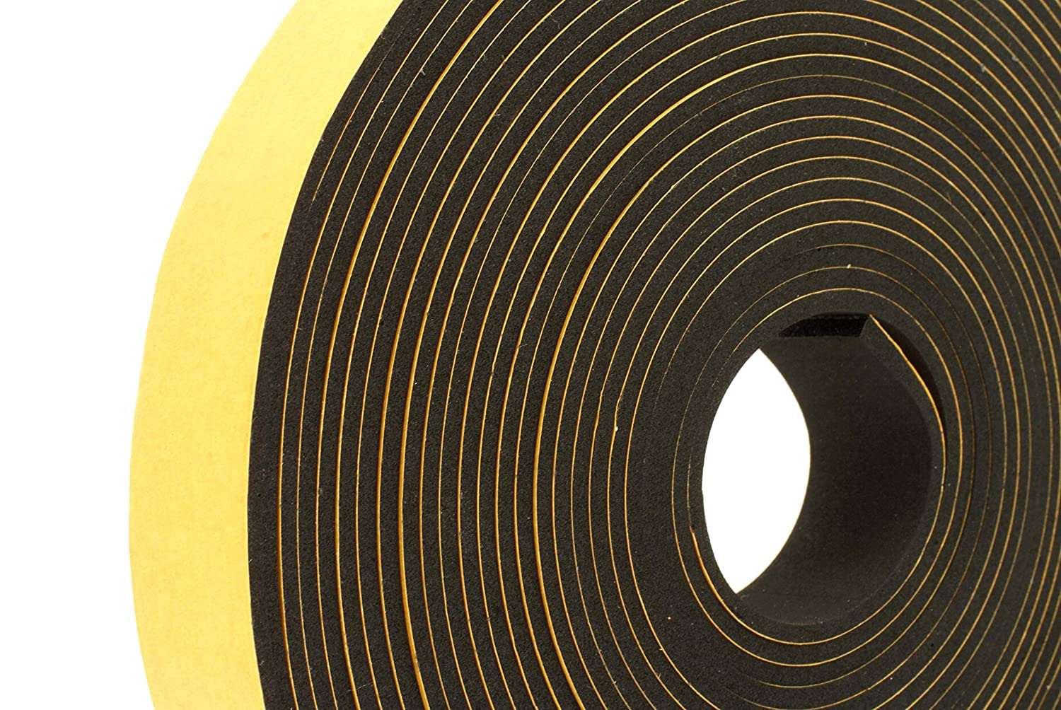 NEOPRENE RUBBER SPONGE Self Adhesive Strip 1 wide x 1 8 thick x 33 feet long