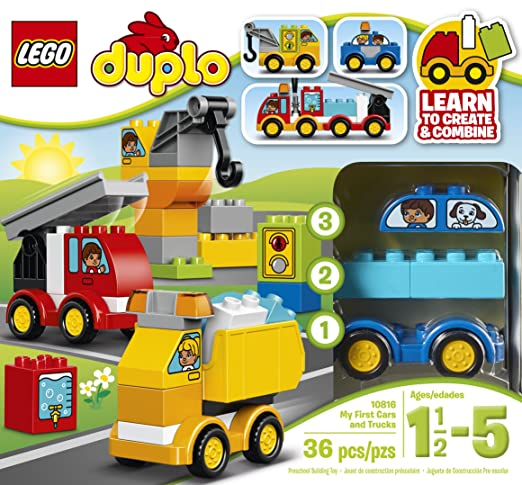 Amazon.com: LEGO DUPLO My First Cars And Trucks 10816 Toy For 2 ...