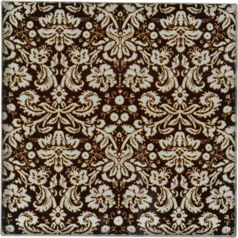 Amazon Com 3drose Ct 151442 5 Black Damask With White Stylish