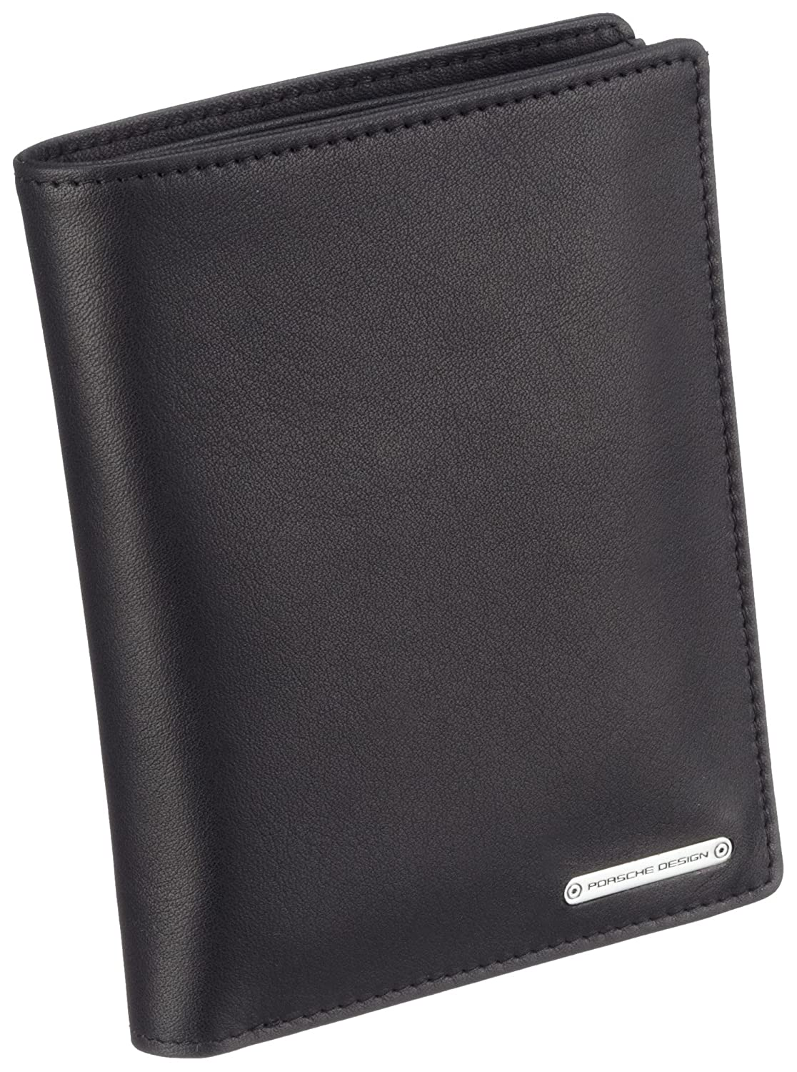 TALLA one size. Porsche Design 09/18/19110-01 - Monedero de cuero unisex, color negro, talla one size