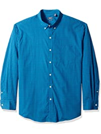 28e85c39e66f4 IZOD Men s Big and Tall Button Down Long Sleeve Stretch Performance Gingham  Shirt