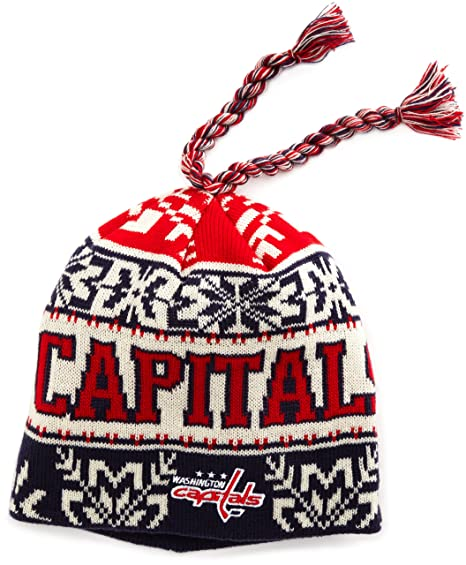 detailed look f7ce9 7af2d Amazon.com   NHL Game Day Cuffless Knit Hat- Ke61Z, Washington Capitals,  One Size Fits All   Sports Fan Beanies   Clothing