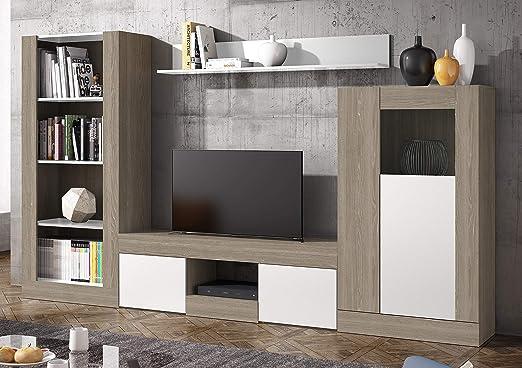 Miroytengo Pack Muebles modulares salón Comedor Karla 4 (Mesa TV + ...