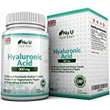 Hyaluronic Acid 300mg – 90 Capsules (3 Month Supply) – Triple Strength of Many Brands by Nu U Nutrition