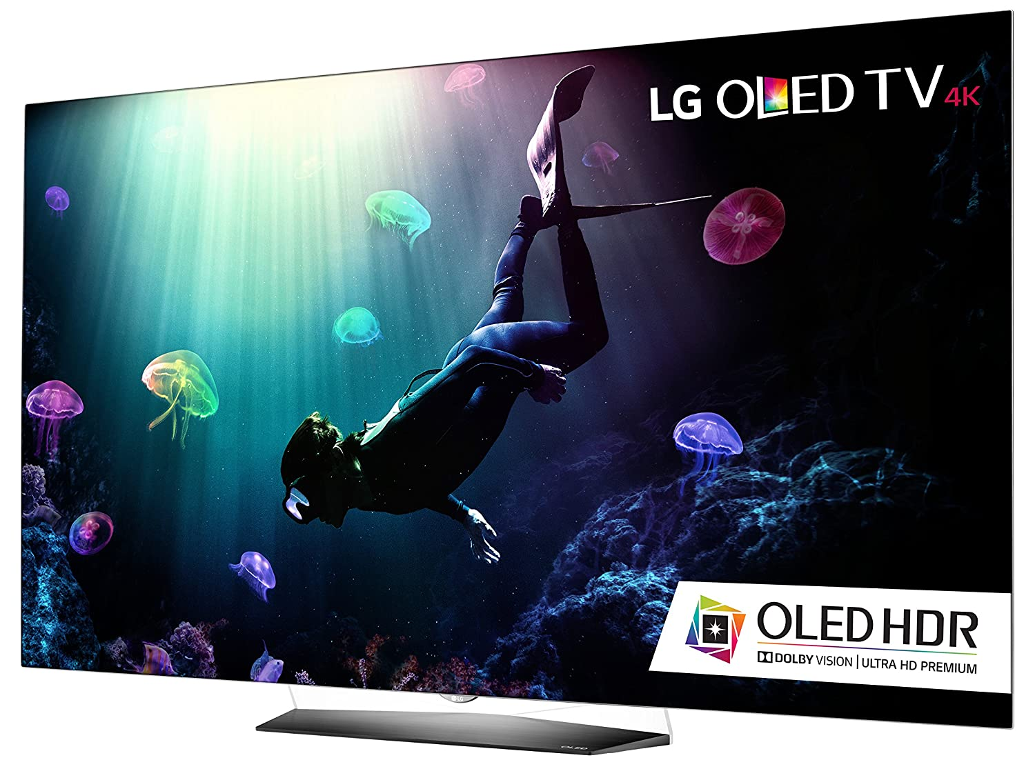 LG Electronics OLED65B6P Flat 65-Inch 4K Ultra HD Smart OLED TV (2016 Model)