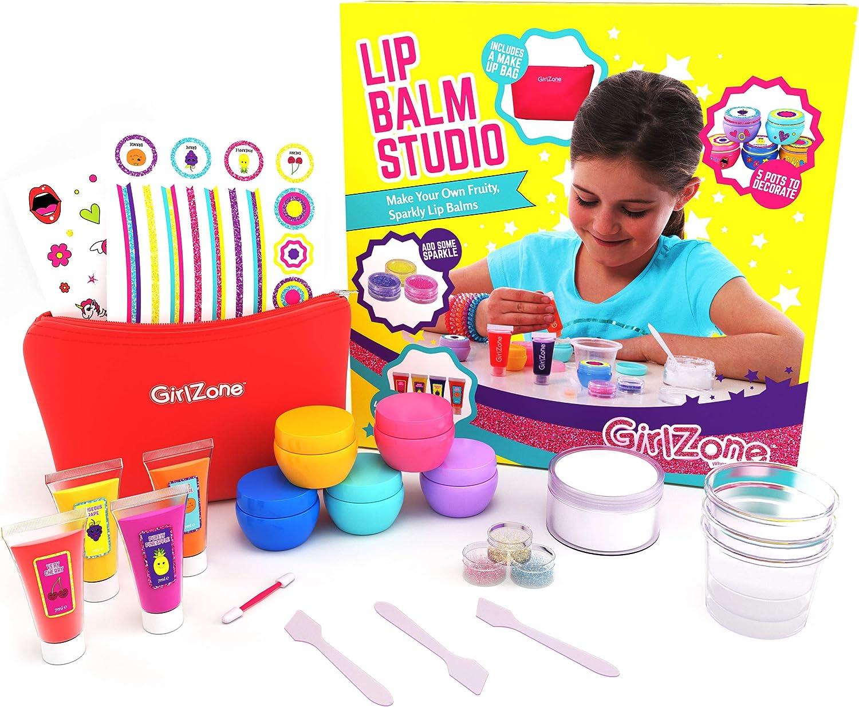 Regalos para Niñas - Kit Haz Tu Propio Bálsamo Labial - Divertido Brillo De Labios Para Niñas - Kit Pintalabios Niña DIY - Detalles Cumpleaños Infantiles 6 a 12+ Años