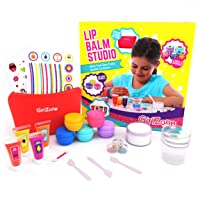 GirlZone: Lip Gloss Kit Make Your Own Lip Balm Fun Makeup Set for Girls, 22 Pieces...