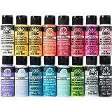 FolkArt PROMOMSB16 Multi Surface Acrylic Paint Set 16 Piece Bright Colors
