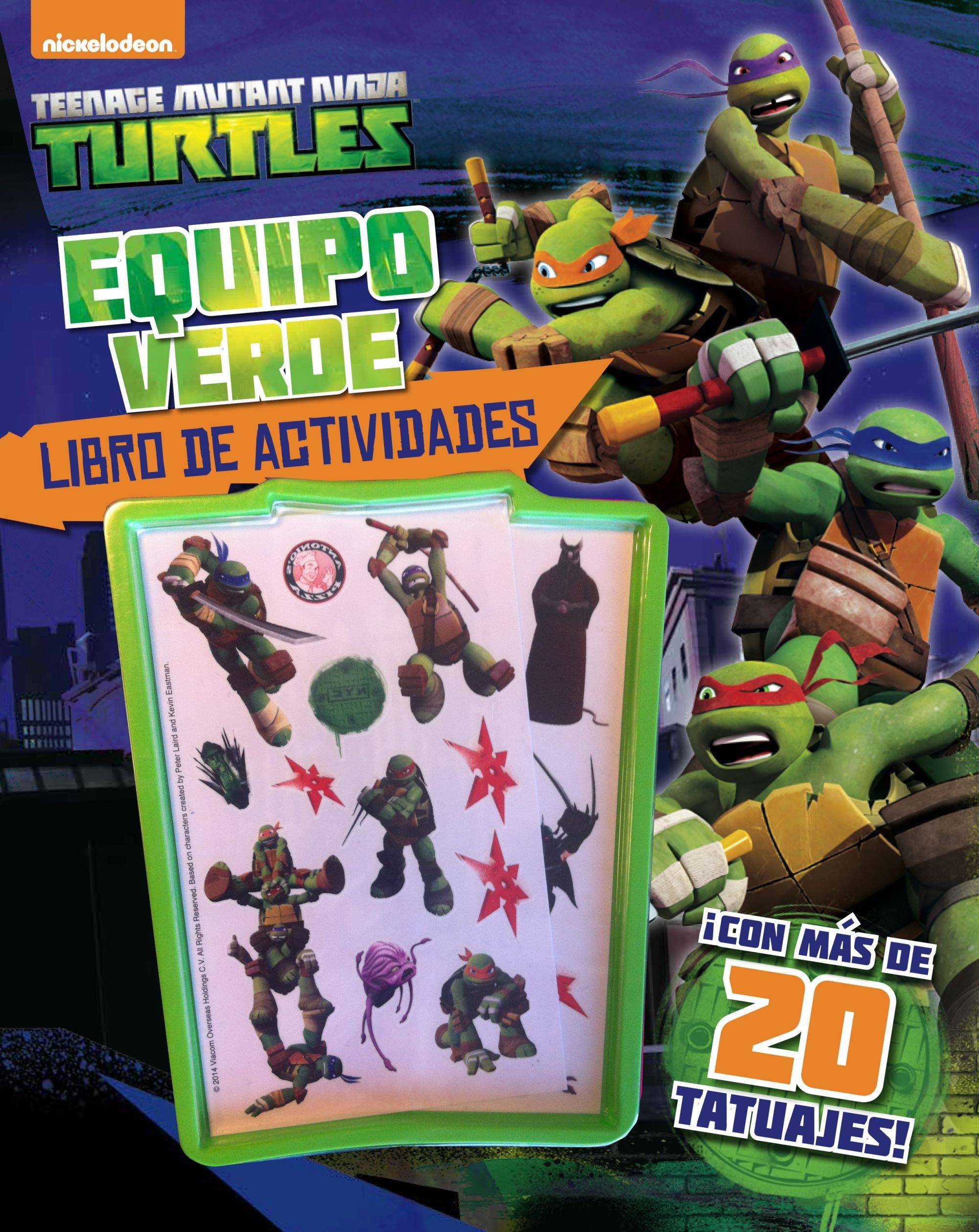 Las Tortugas Ninja. Equipo verde. Libro de actividades: VV ...